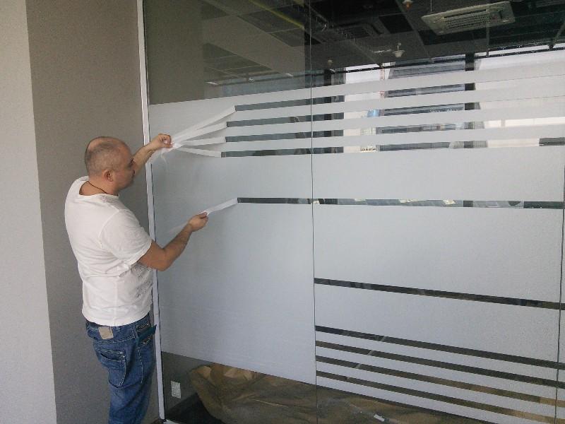 Матовая пленка на стекло двери